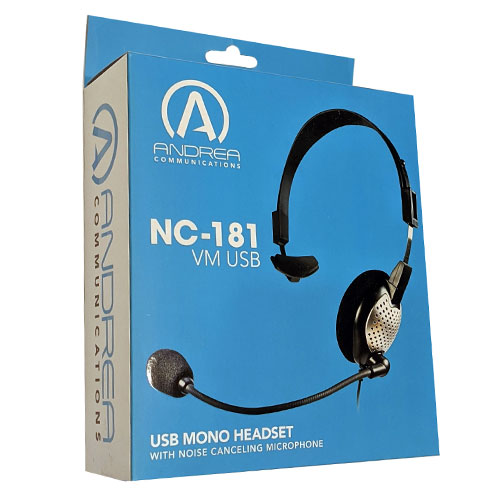 Andrea C1-1022300-50 (NC-181VM USB) High Quality Digital Monaural Headset Packaging